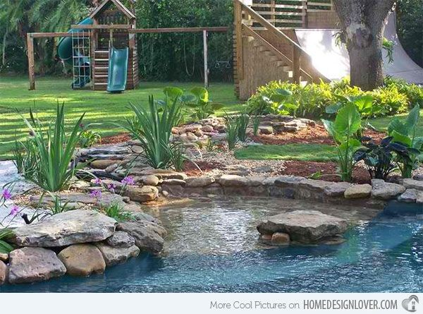 15 Pond Landscaping Designs For Your Garden Home Design Lover Pond Landscaping Pool Landscaping Ponds Backyard