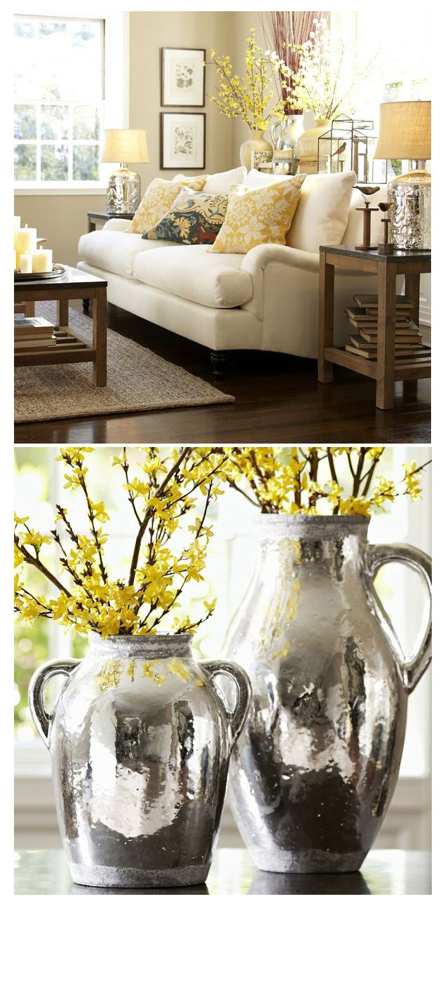 Rustic Home Decor So Very Pretty But I Would Never Have A White Couch Perhaps Tan Color For My Messy Household