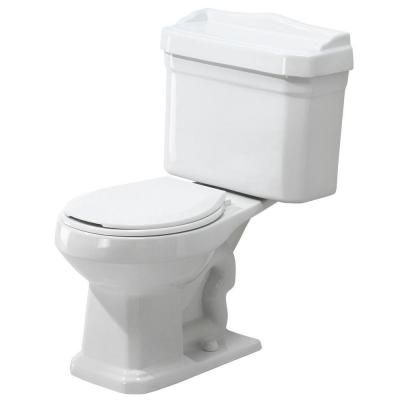Foremost Series 1930 2 Piece 1 6 Gpf Single Flush Round Toilet Combo In White Tl 1930 W Toilet Retro Bathrooms Yellow Bathrooms