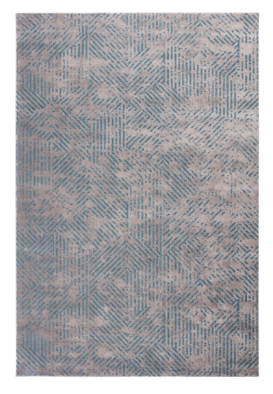 Handmade Rectangular Striped Fabric Rug Swing By Limited Edition