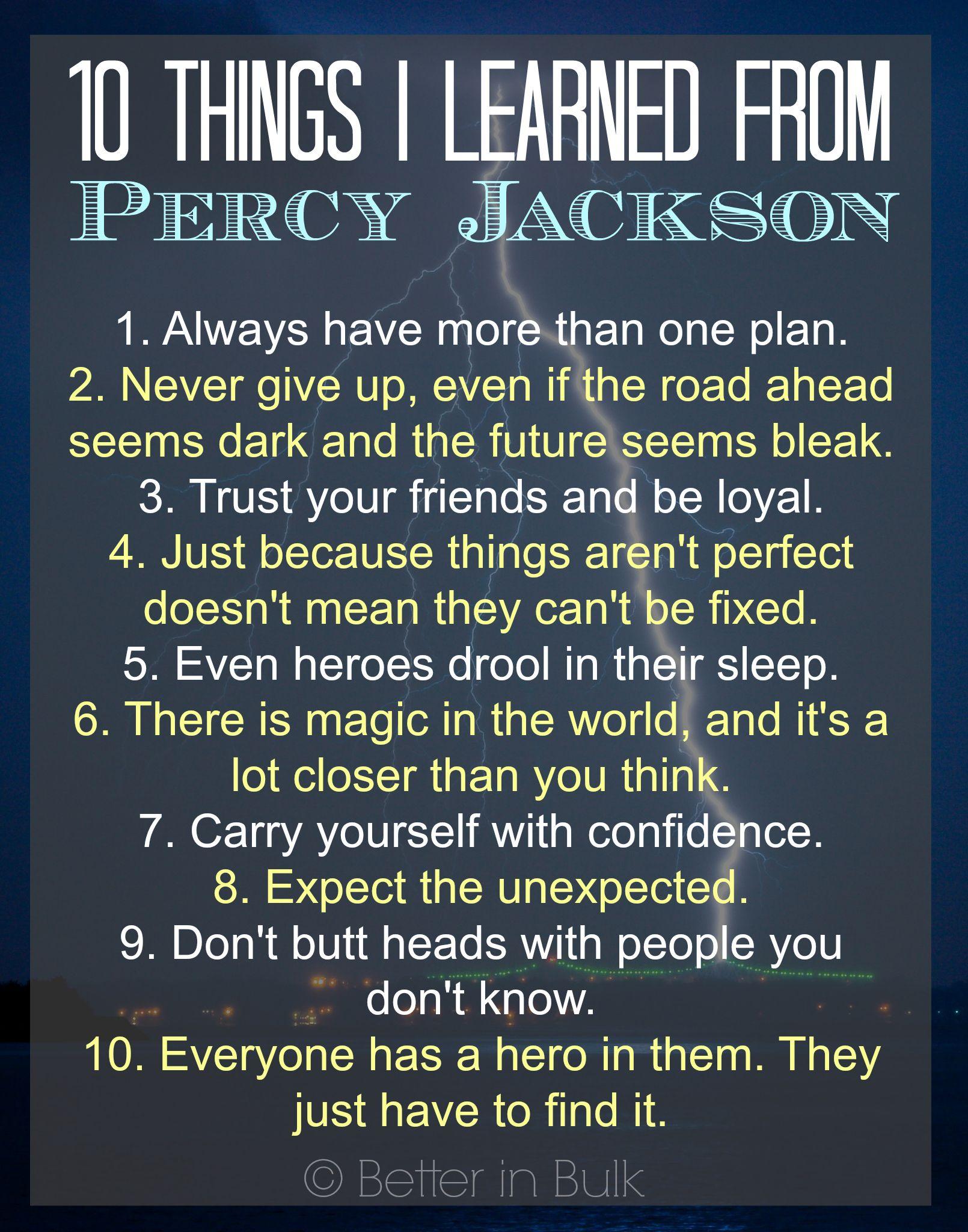 10 things i learned from percy jackson readriordan pinterest