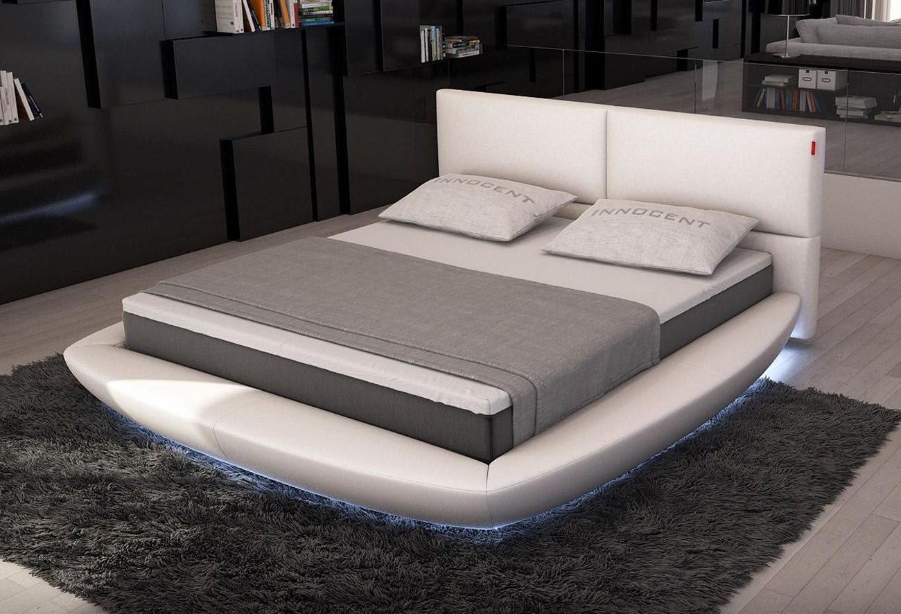 Extravagant Leather Platform And Headboard Bed Boston Massachusetts [VSFE]  : Prime Classic Design Inc