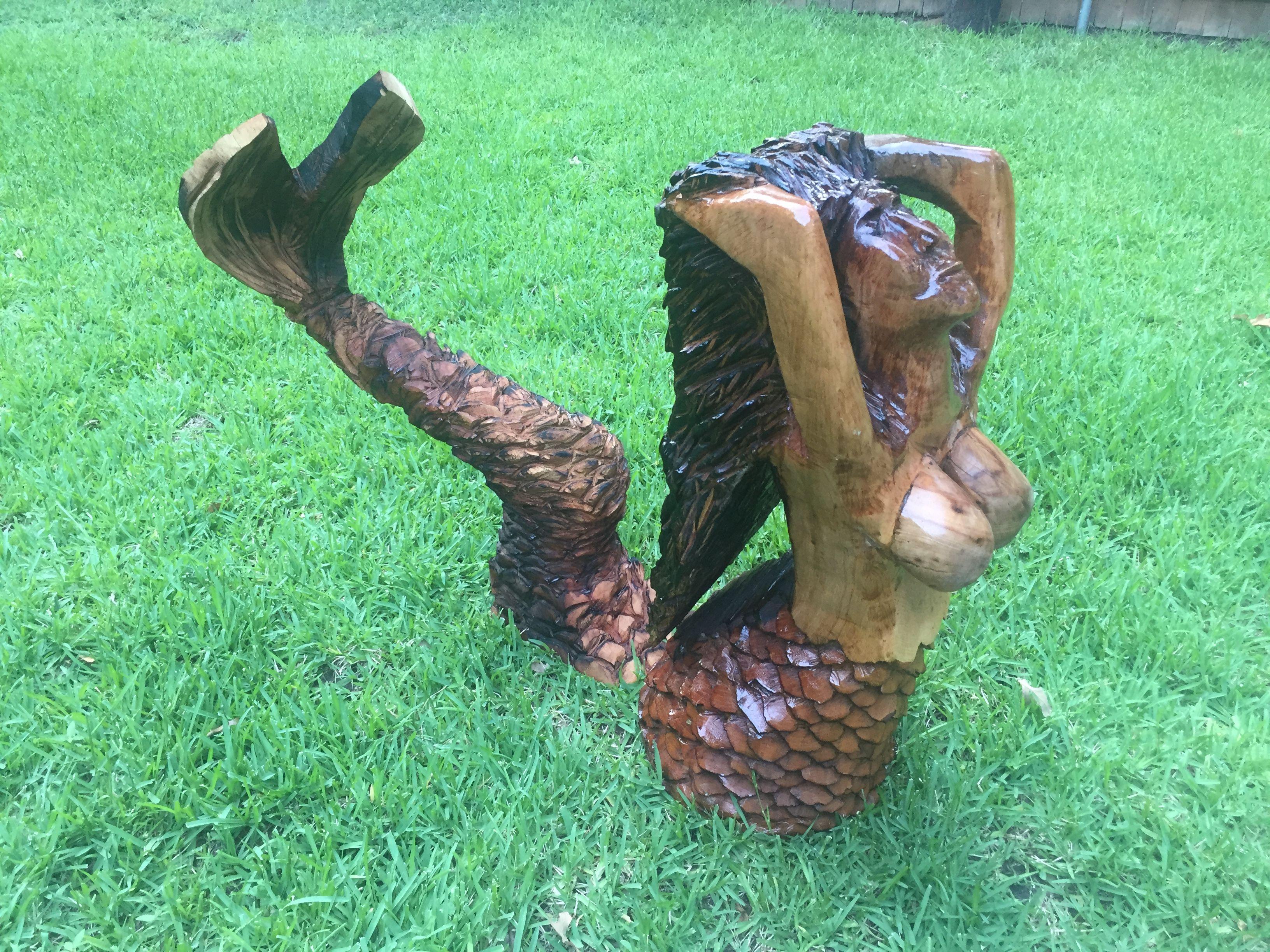 Texas chainsaw mermaid chainsaw artist rob banda