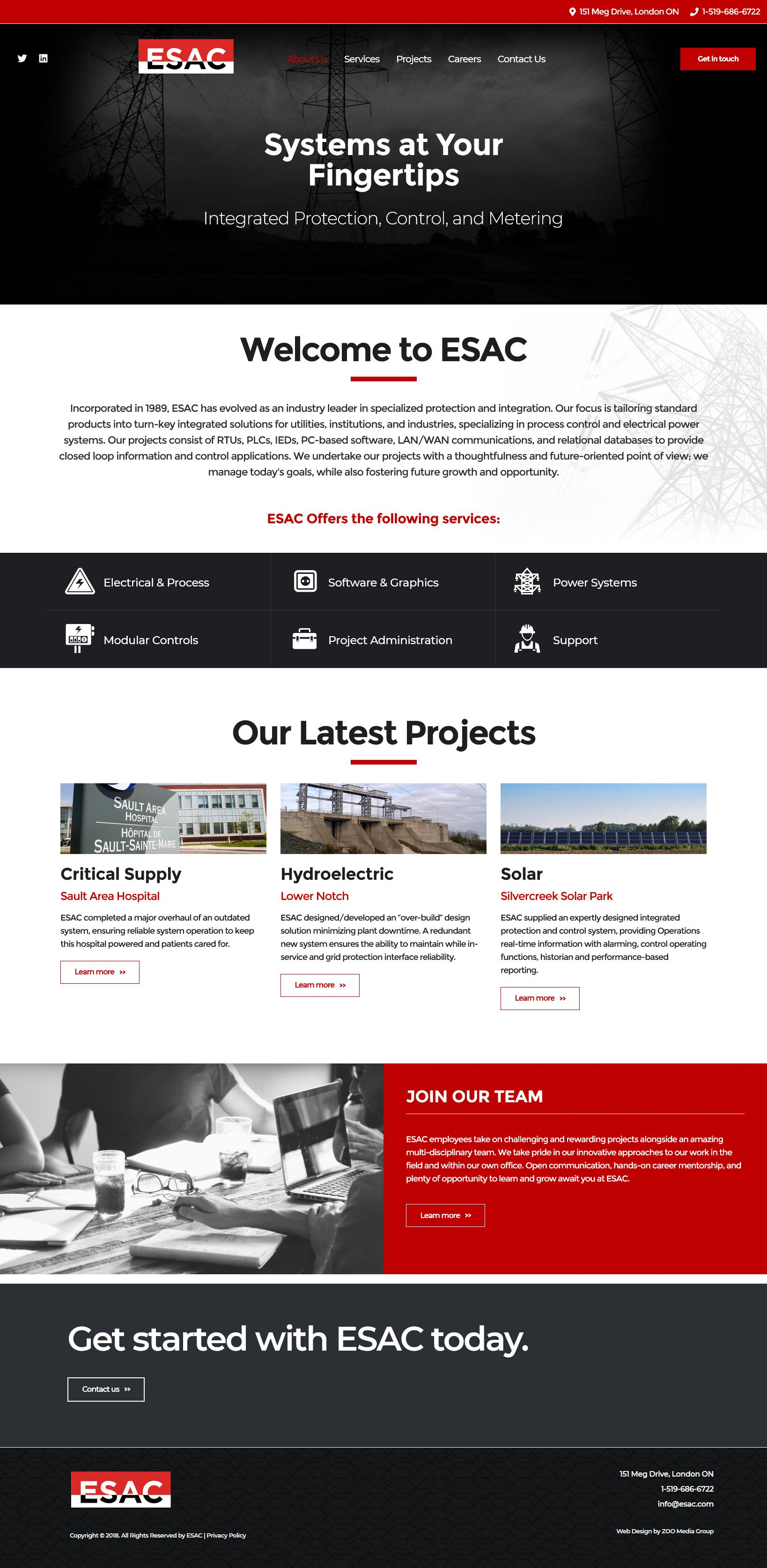 Zoo Had The Pleasure Of Working With Esac To Design Their New Scrolling Html5 Custom Website Black Red In 2020 Website Design Website Design Inspiration Web Design