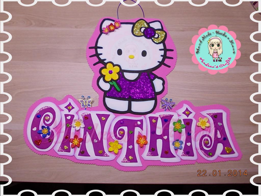 Precioso cartel en foami para Cinthia, su cumpleaños ha sido ...