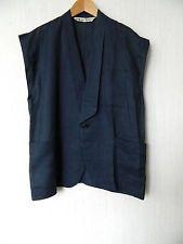 COMME des GARCONS ancienne magnifique veste lin sans manche