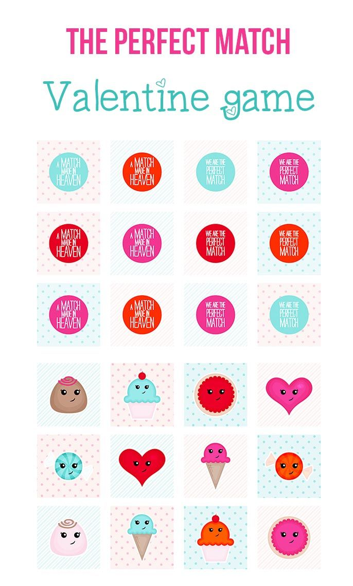 the perfect match valentine game freeprintable valentinesday