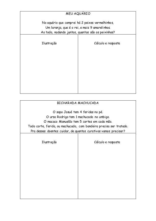 Poemas Problemas Com Imagens Atividades De Matematica 3ano