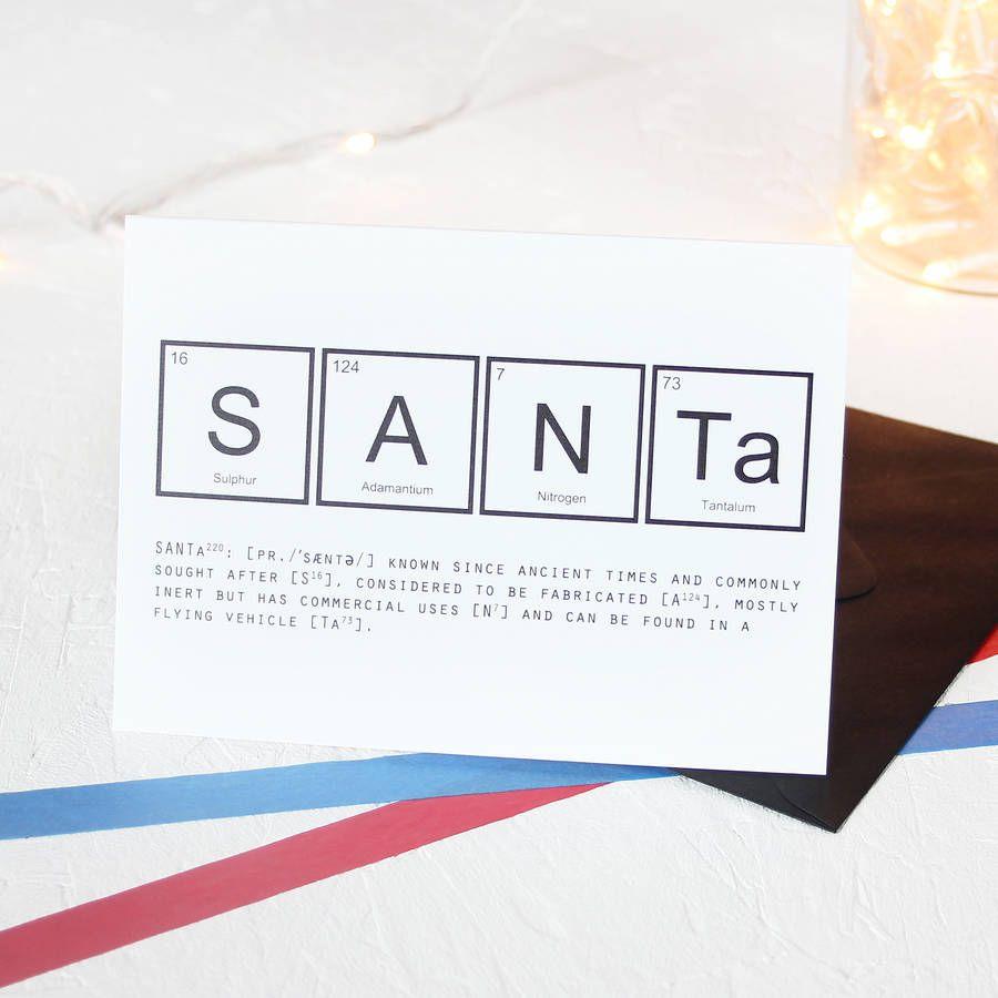 Christmas periodic table santa card packs christmas pinterest christmas periodic table santa card packs gamestrikefo Gallery