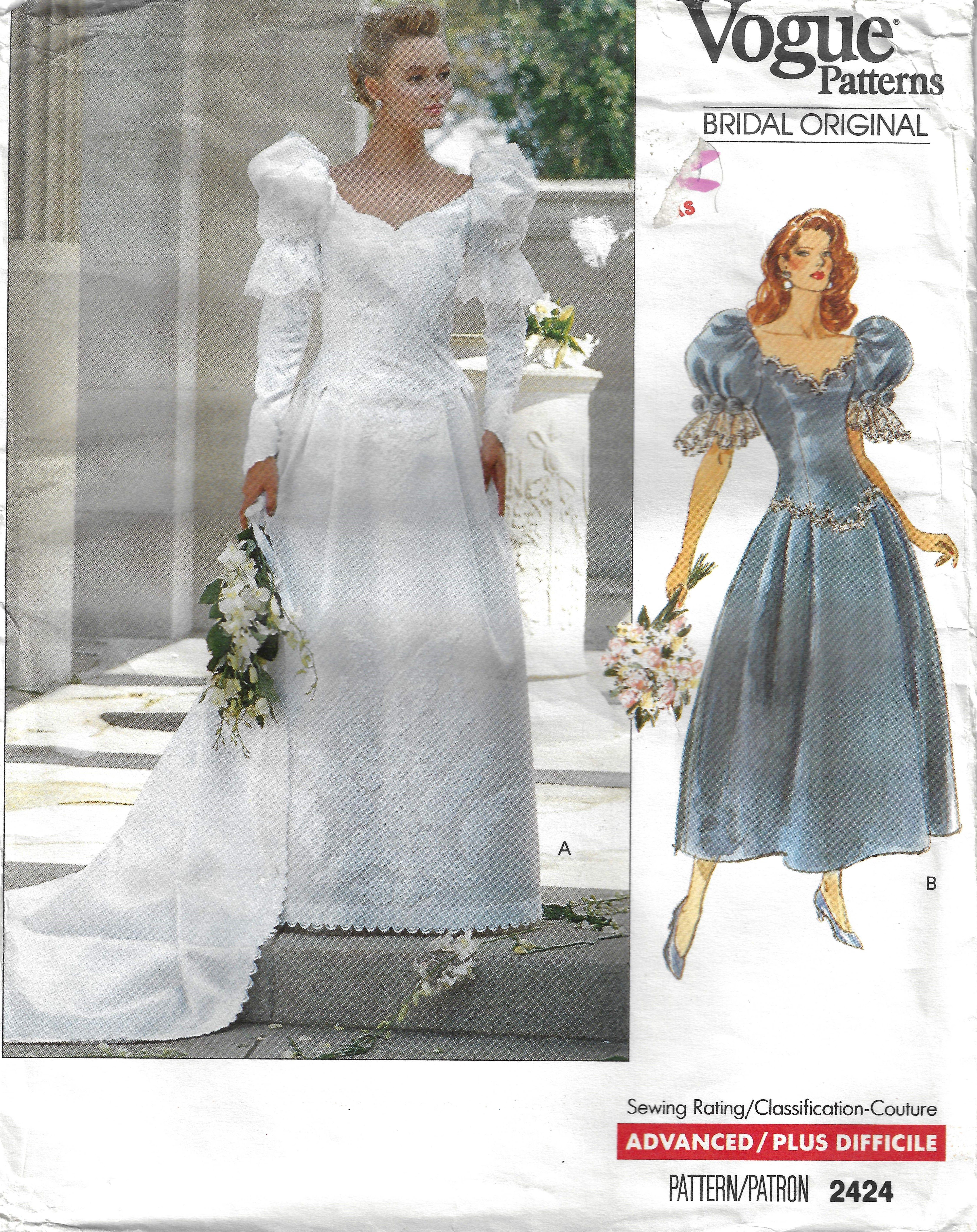 Vogue Bridal Original 2424 Wedding Dress Bridesmaid Ca 1990s: Bridal Originals 1990s Wedding Dresses At Reisefeber.org