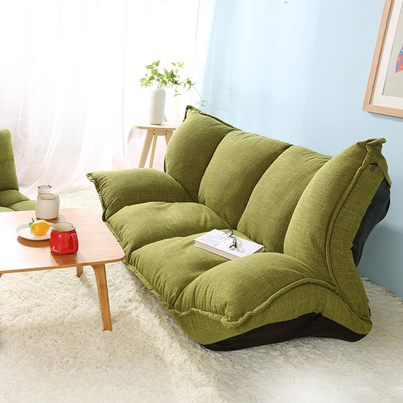 Modern Design Floor Sofa Bed 5 Position Adjule Plaid Japanese Style Furniture Living Room Reclining Folding