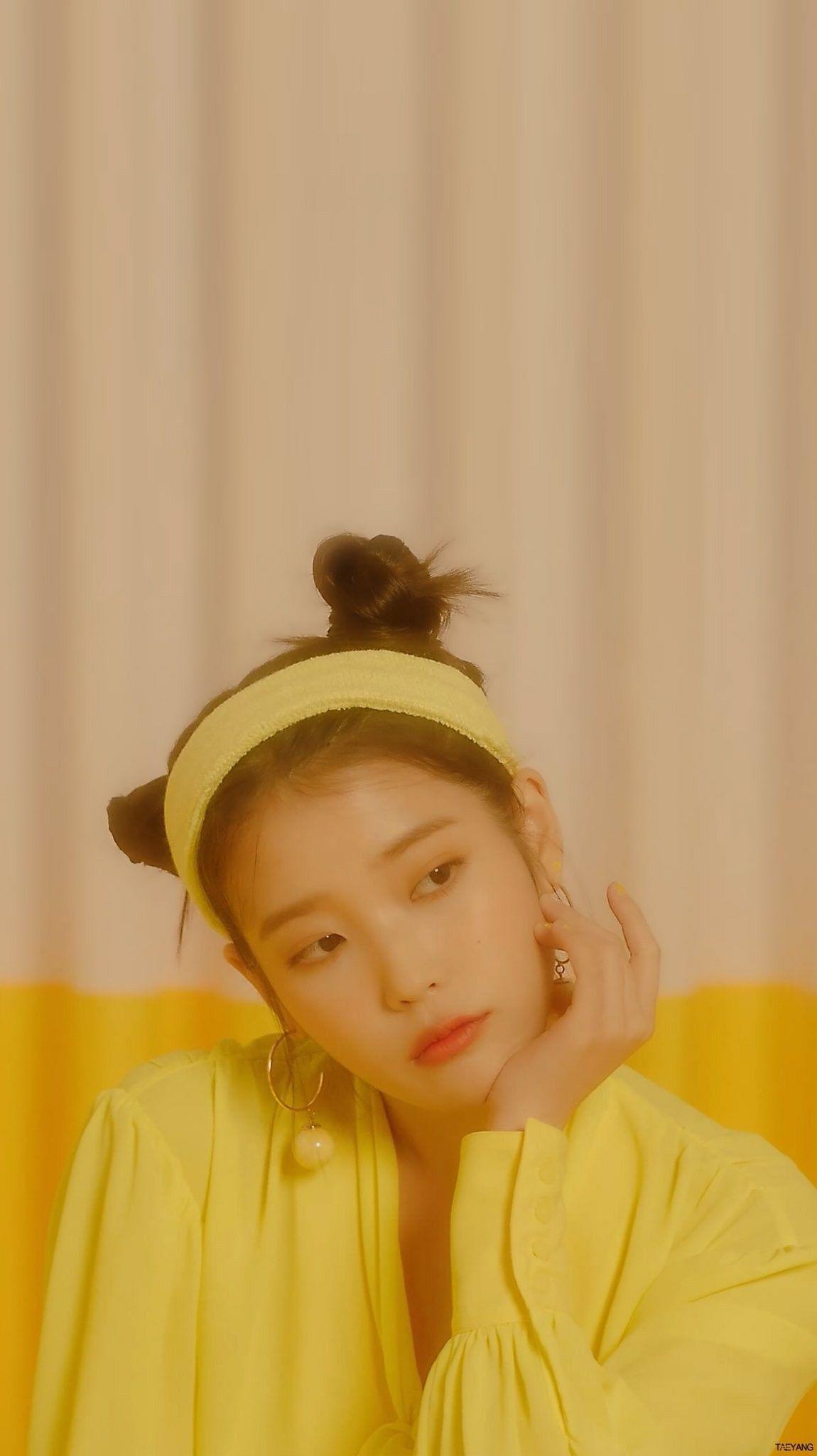 Iu ibbi Wallpaper Yellow Aesthetic Kpop Girls Korean Actresses