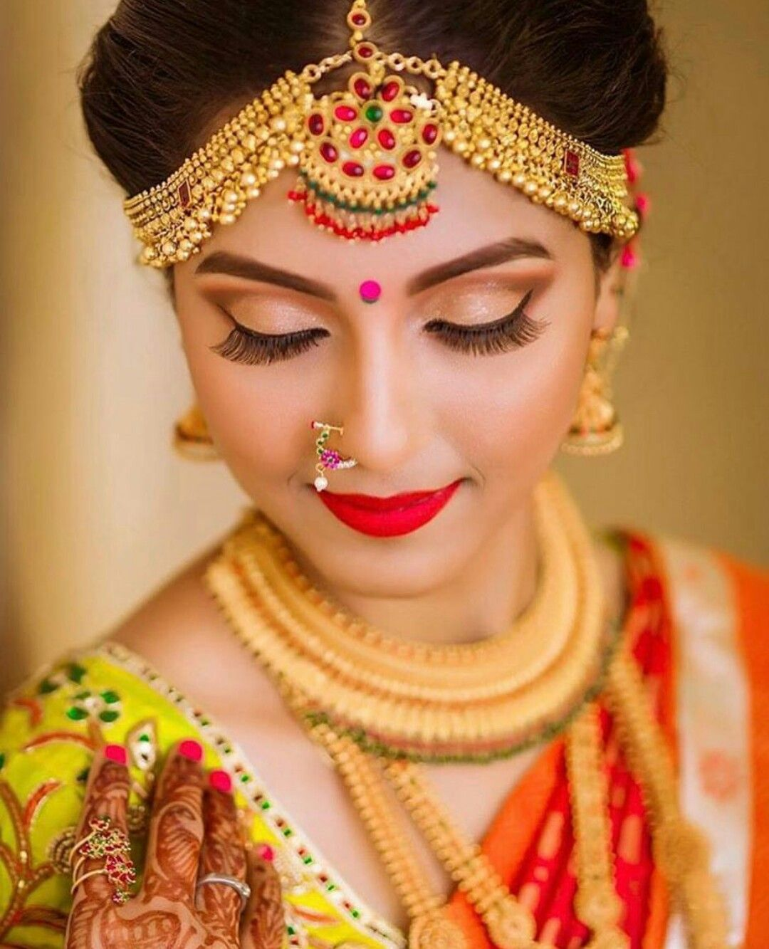 Pin by 👑mar u.j👑 on Bridal,s Indian bridal makeup