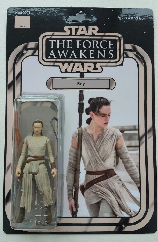 Star Wars The Rise of Skywalker REY Vintage Custom Carded 3.75 Action Figure