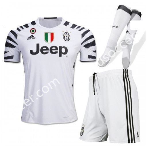 a30c05349 2016-17 Juventus 2nd Away White Thailand Soccer Uniform With Patches and  Socks AAA