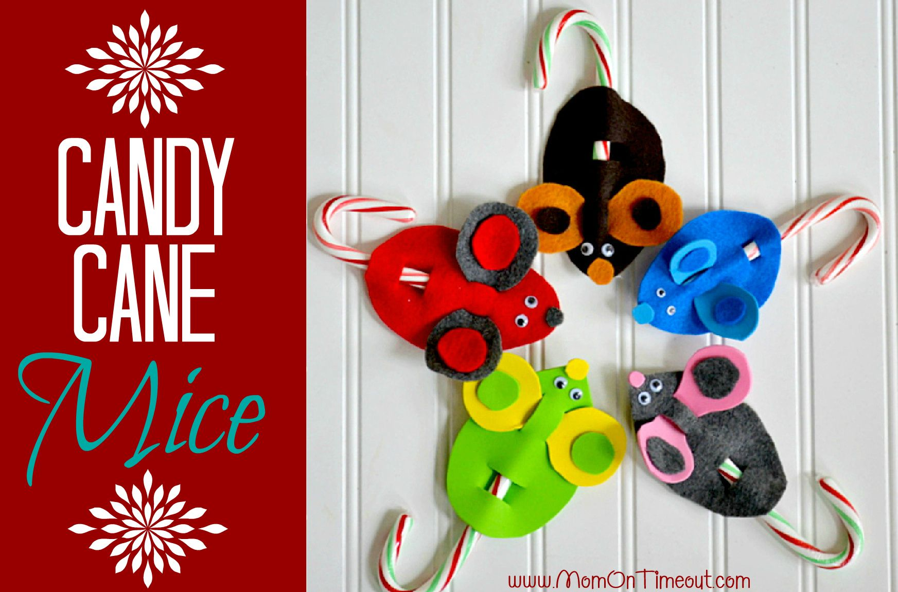 Delightful Christmas Craft Ideas 2012 Part - 5: Candy Cane Mice Christmas Craft