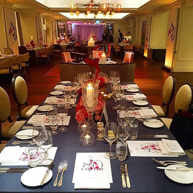 tablescape Lancôme 80th birthday. July 2015 French and