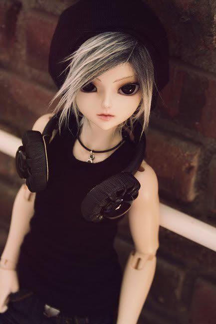 """8-9 /"""" Sabelle Long Wig Black Dollmore 1//3 BJD Dollfie Wig"""