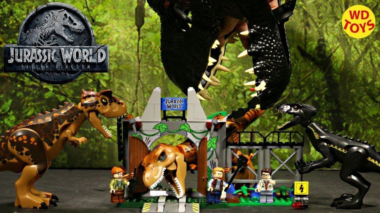 New Indoraptor Vs Velociraptor 3 Lego Jurassic World Fallen