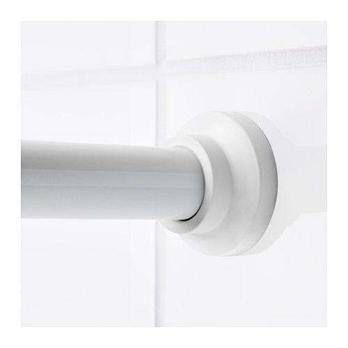 Botaren barra para cortina de ba o blanco 70 120 cm for Barra cortina ducha ikea