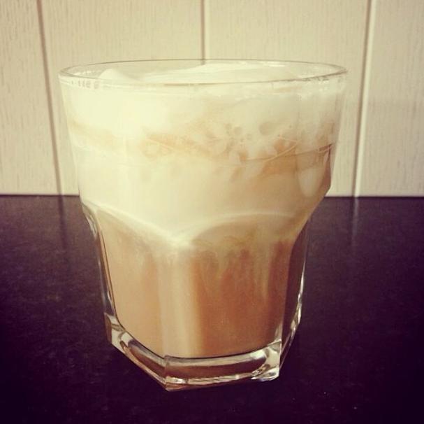 Homemade Iced Cappuccino  #cappuccino