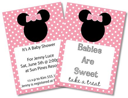 Attractive FREE Mickey Mouse Baby Shower Invitations U0026 Clipart   Minnie Mouse Too!