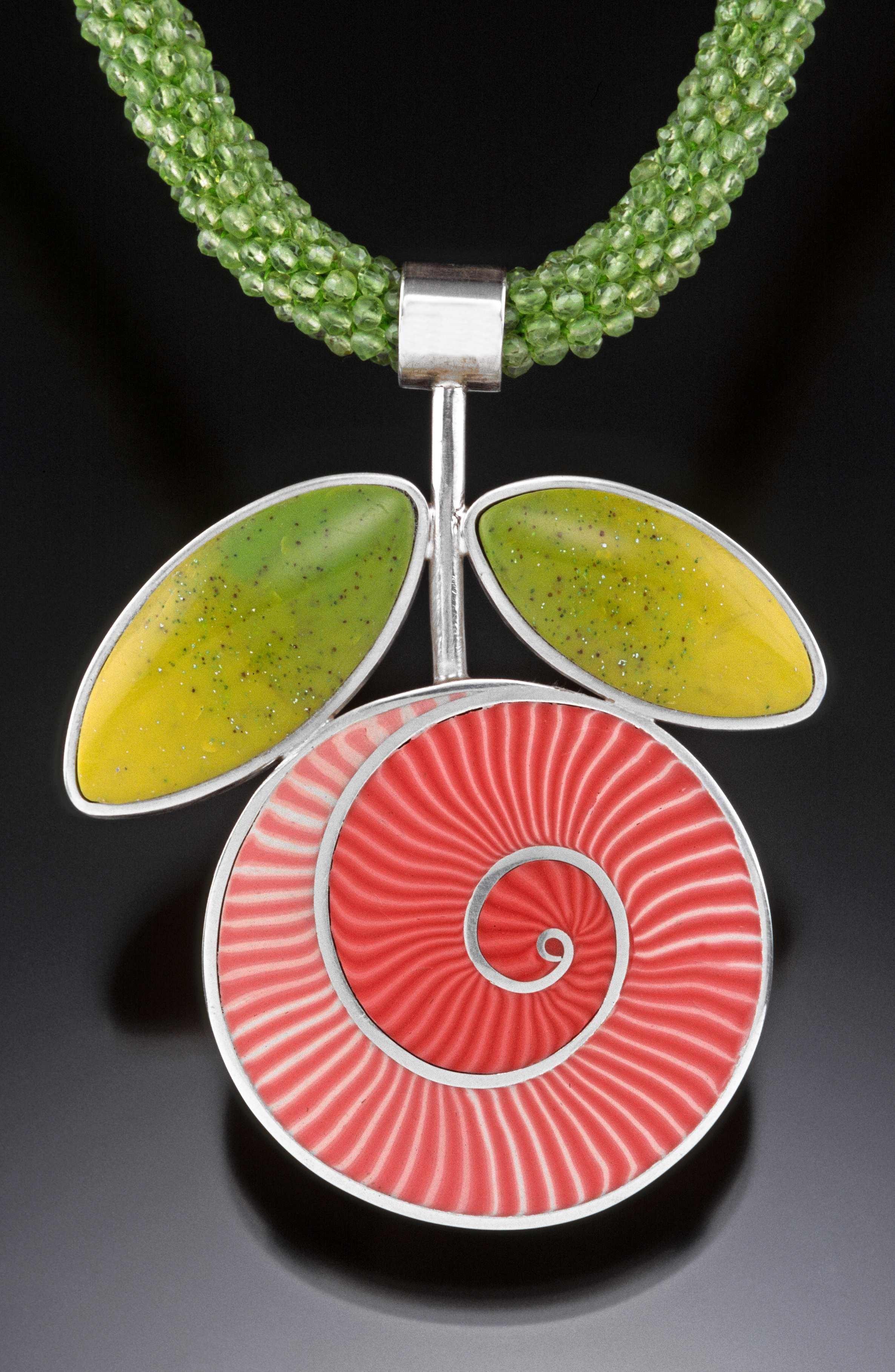 Debra DeWolff #polymer #pendant #necklace