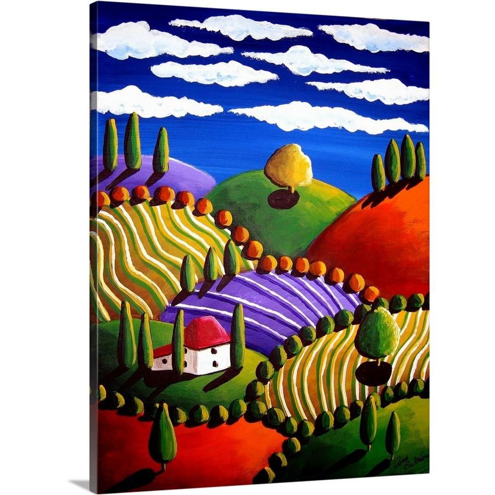 Pittura Termica Toscano Little Tuscan Scene By Renie Britenbucher Canvas Wall Art Multi