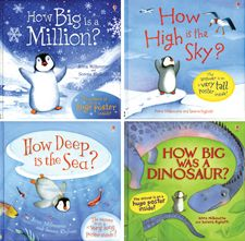 This collection includes the hardback editions of the following titles: How Big is a Million?, How Big was a Dinosaur?, How Deep is the Sea?, and How High is the Sky?.