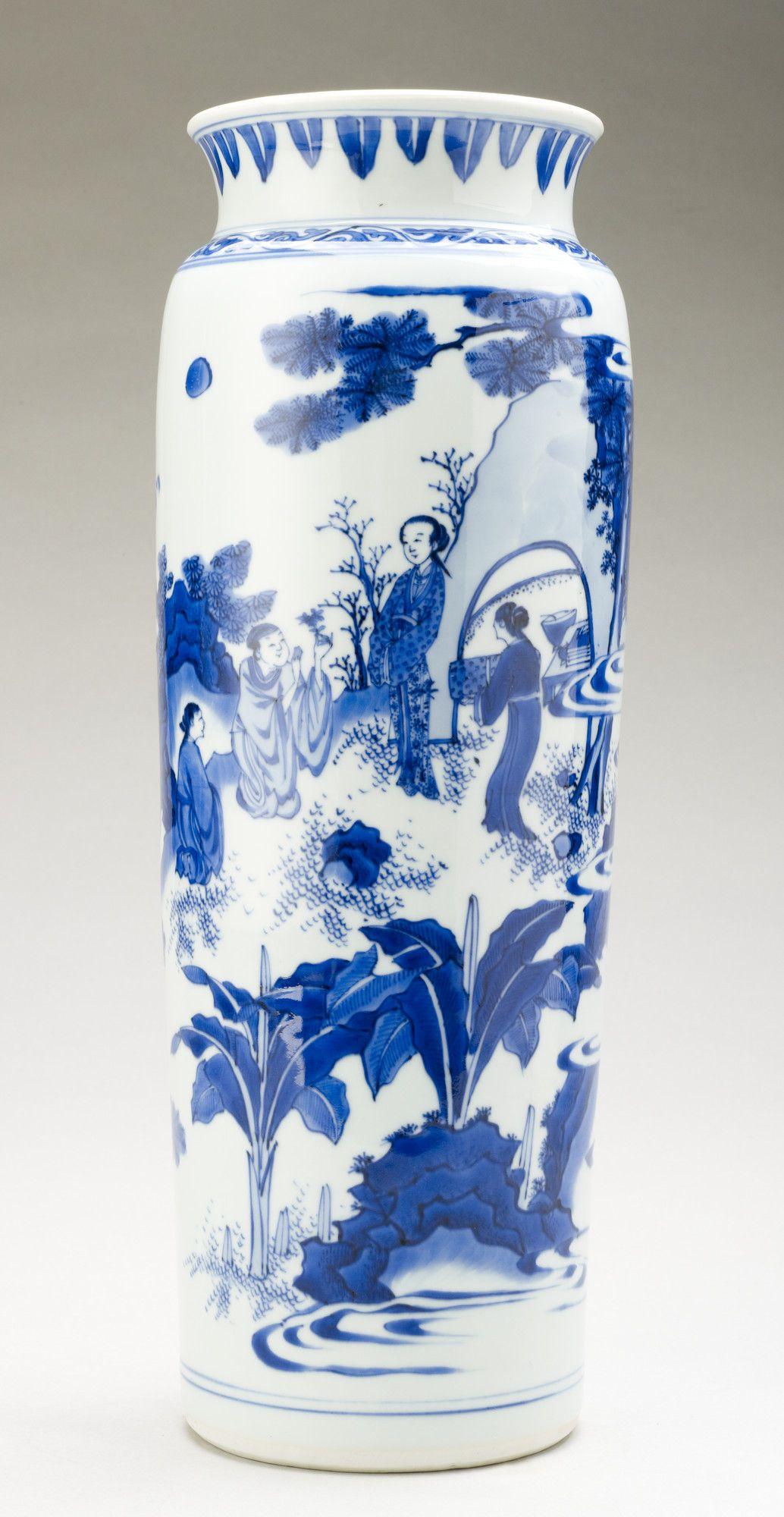 chinese porcelain rolwagen vase 1660 bianco blu china blue china white vases. Black Bedroom Furniture Sets. Home Design Ideas