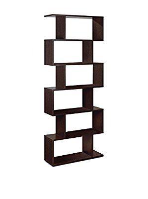 Forés - Estantería de diseño en Wengue (192 x 80 x 25 cm), color marrón