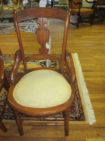 Set of (6) Antique Victorian Eastlake Dining Chairs