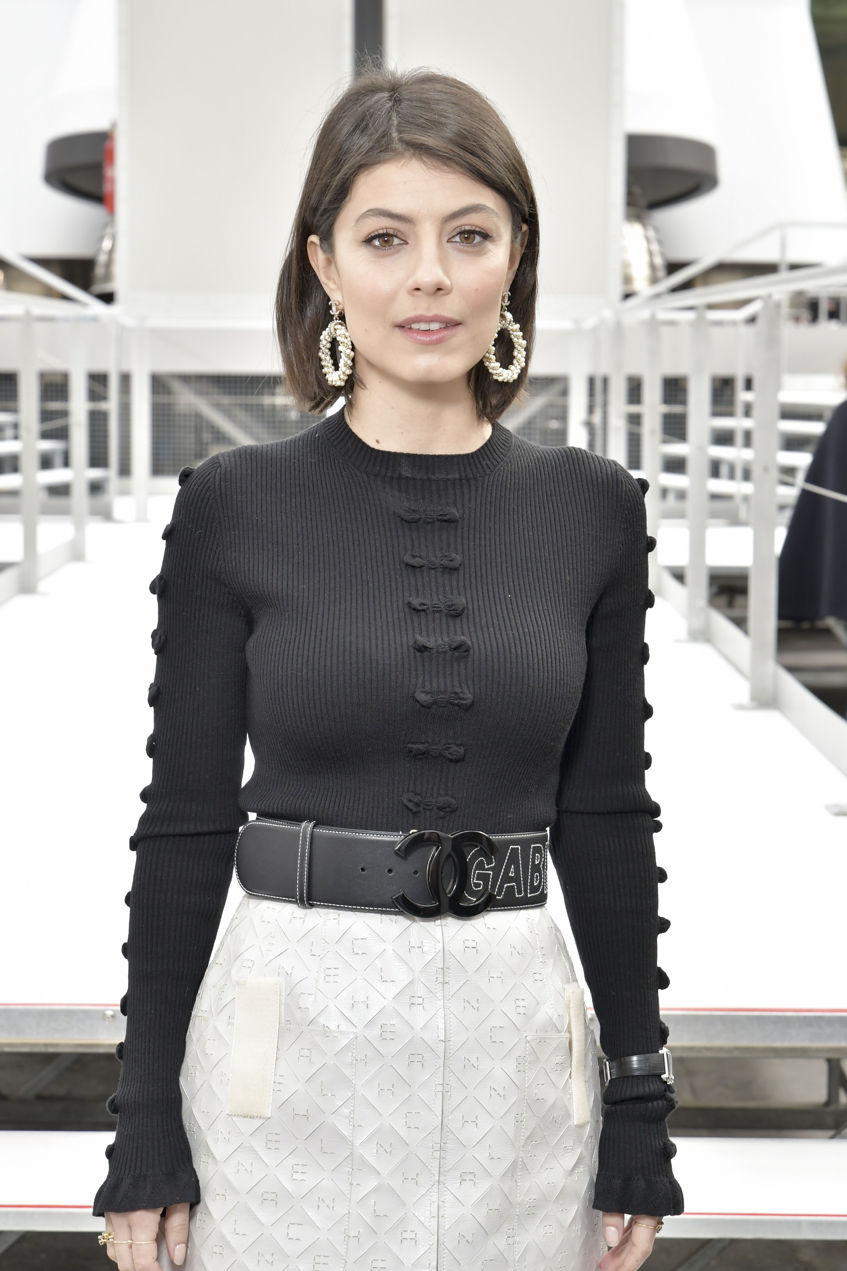 Alessandra Mastronardi  Special guests for the Chanel fashion show in the space - © Chanel