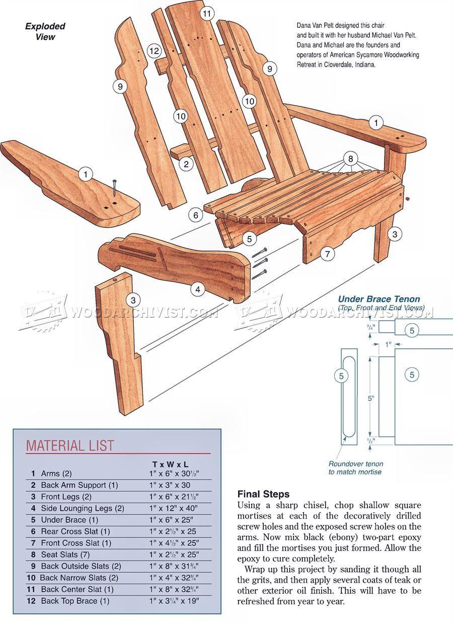 Build Adirondack Chair Adirondack Chair Adirondack Chairs Diy