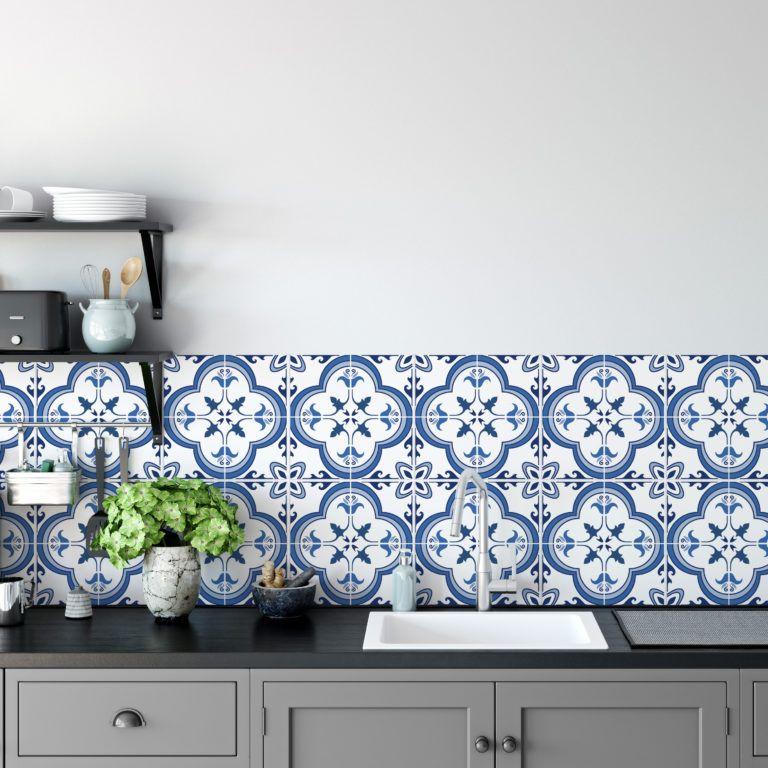 Portuguese Tiles Blue Spanish Tiles Blue Backsplash Kitchen Decor Modern Blue Kitchen Tiles Custom Kitchen Backsplash