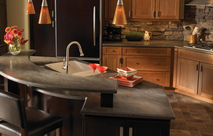 Corian kitchen countertops corian lava rock solid for Corian countertops