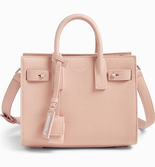 50ff4d49e7 Saint Laurent Sac de Jour Soft Nano Pink Pastel Convertible Calfskin Leather  Cross Body Bag - Tradesy