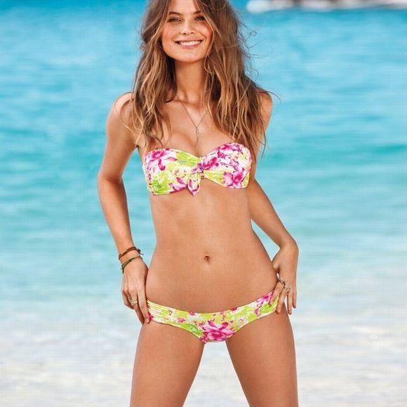 ea664d1ebbf69 Victoria's Secret floral Bikini VS floral bikini with detachable ...