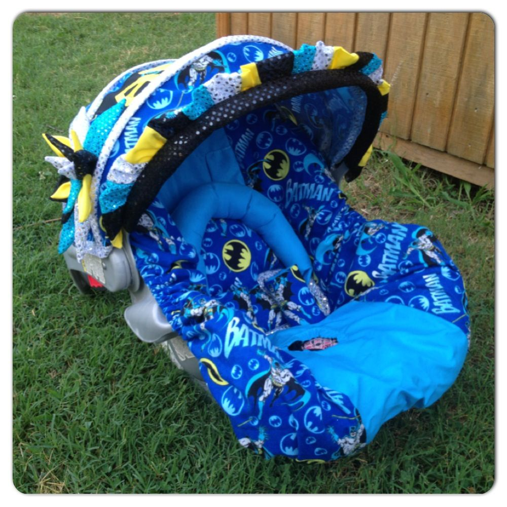 Wish I Had Seen This Before Lennon Was Born Custom Batman Infant Carseat Set Made By Stitch A Bility Angela