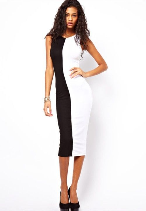 Teairra Mari Black White Dress | Black-and-White Fashions ...