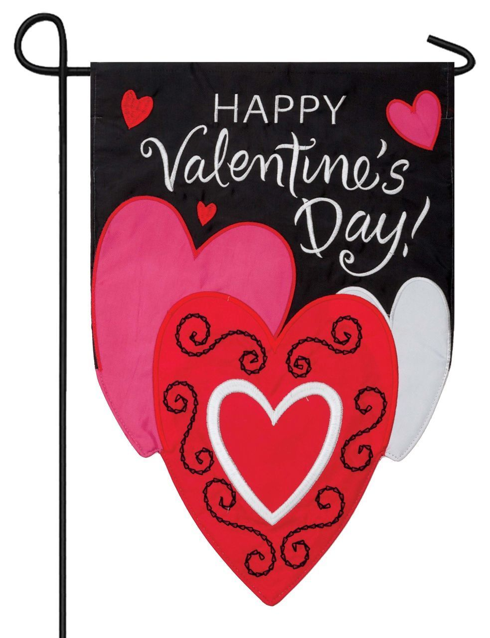 IAmEricas Flags   Happy Valentineu0027s Day Sculpted Double Applique Garden Flag,  $18.00 (http: