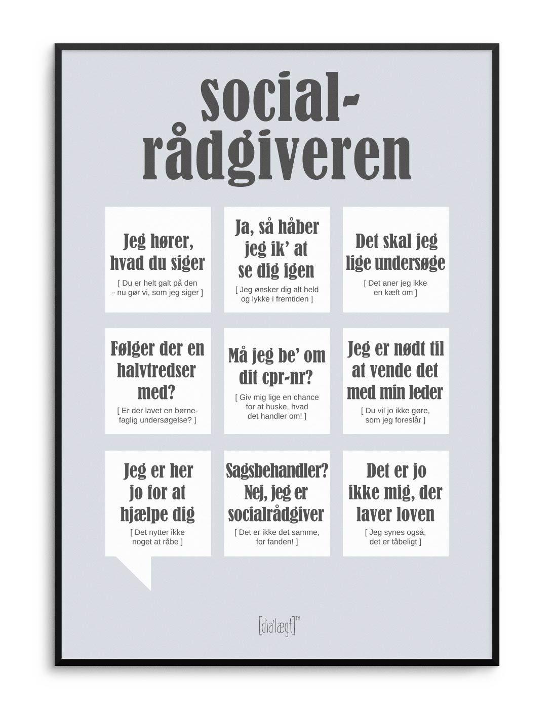 Socialradgiveren Plakat Kob Online Sjove Citater Livets Sandheder Positive Citater