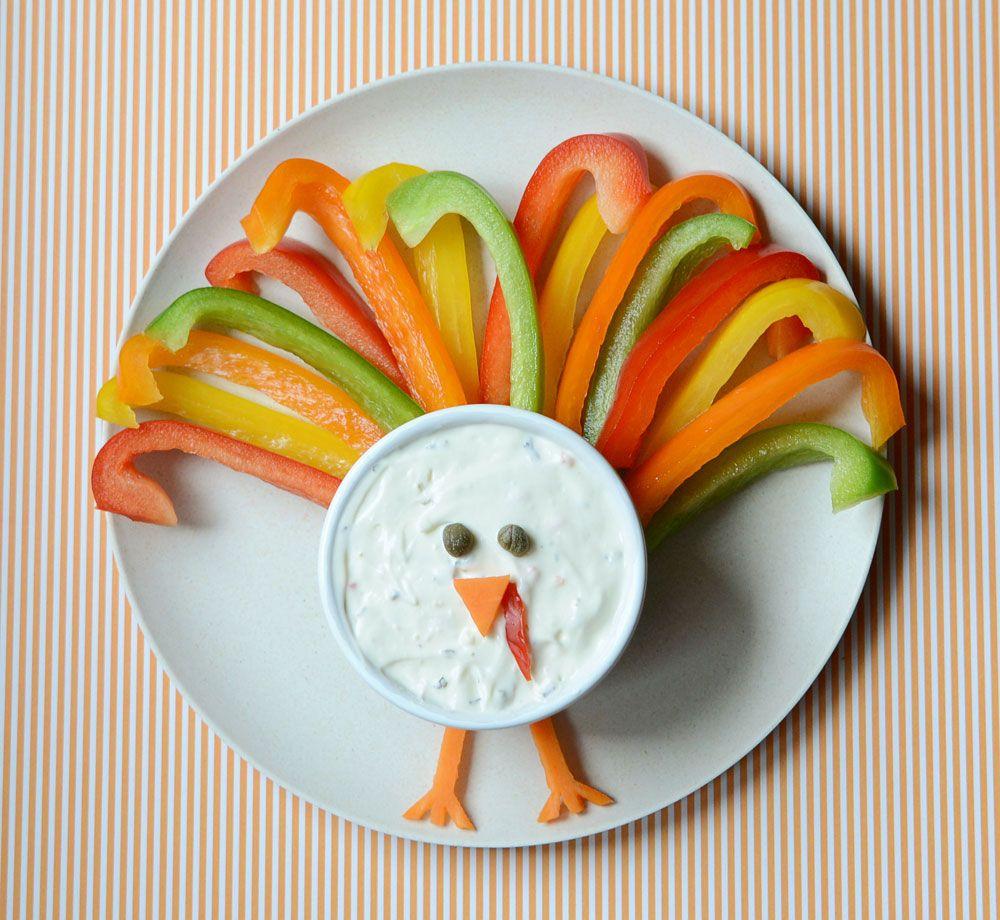 make a veggie turkey for snack gesund kinderessen und. Black Bedroom Furniture Sets. Home Design Ideas