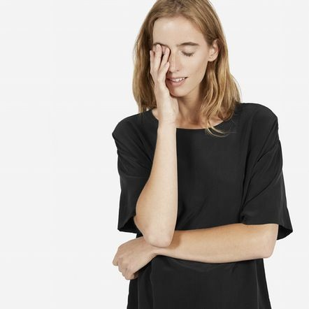 The Silk Short-Sleeve Crew - Everlane