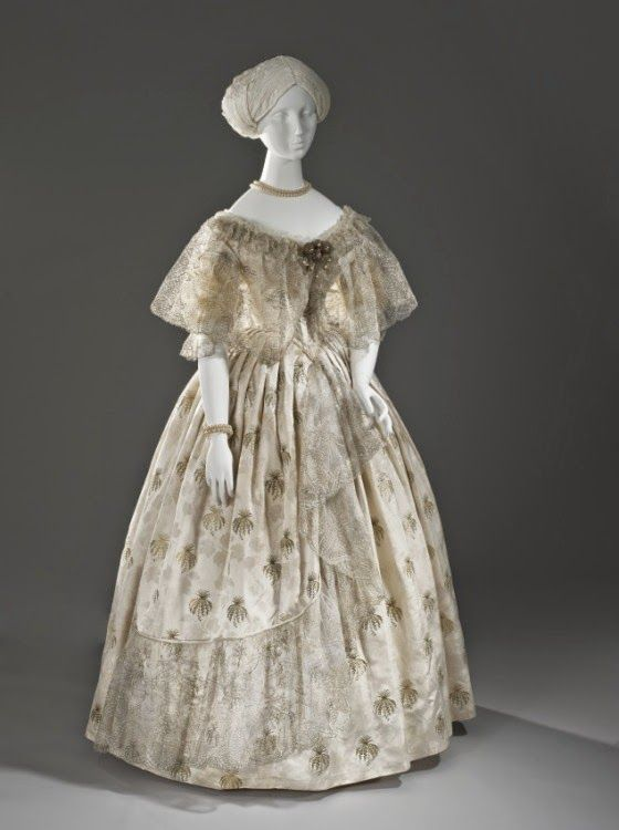 Ball dress, ca. 1850 | In the Swan\'s Shadow | Brother Rabbit ...