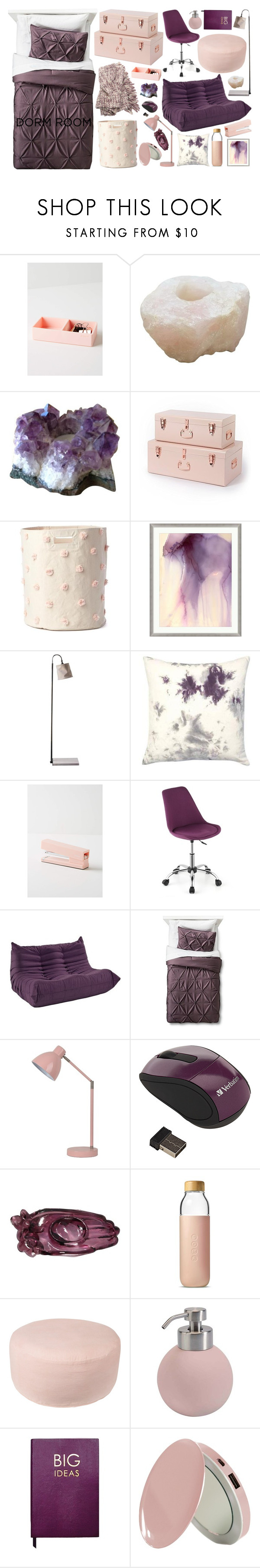Threshold home decor shop for threshold home decor on polyvore -  Amethyst And Rose Quartz By Rachael Aislynn Liked On Polyvore Featuring Interior