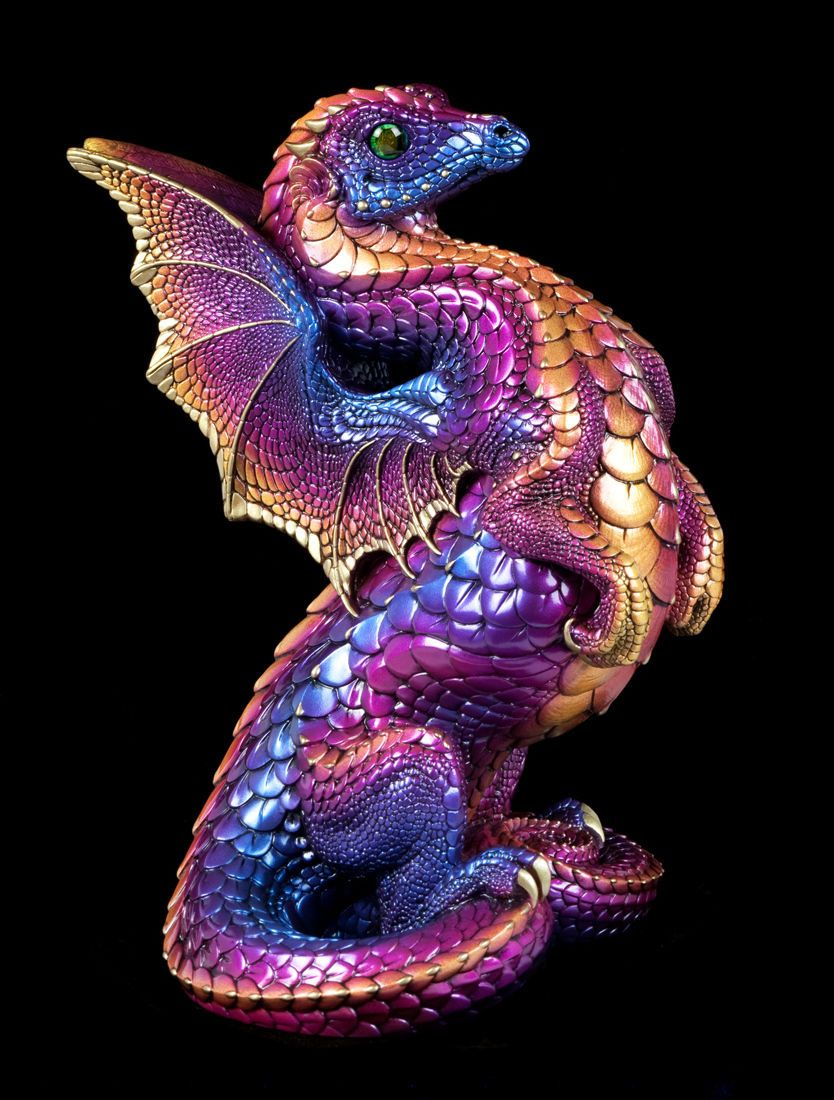 """Windstone Editions """"Celestial Sunset"""" Rising Spectral Dragon Fantasy Statue…"""