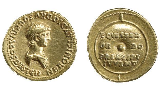 Gold aurei of Nero  Roman, mid-1st century AD  The changing face of Nero