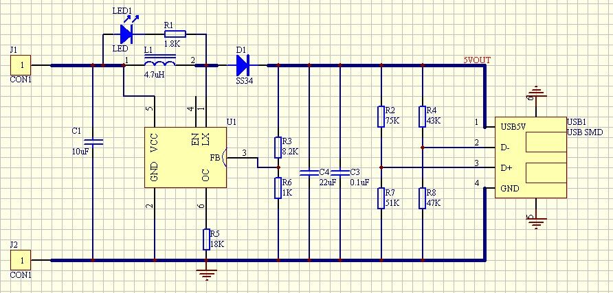 Dc To Dc Step Up Converter Circuit Diagram | Dc Dc Converter Module Step Up 3v To 5v 1a Usb Charger Chiosz
