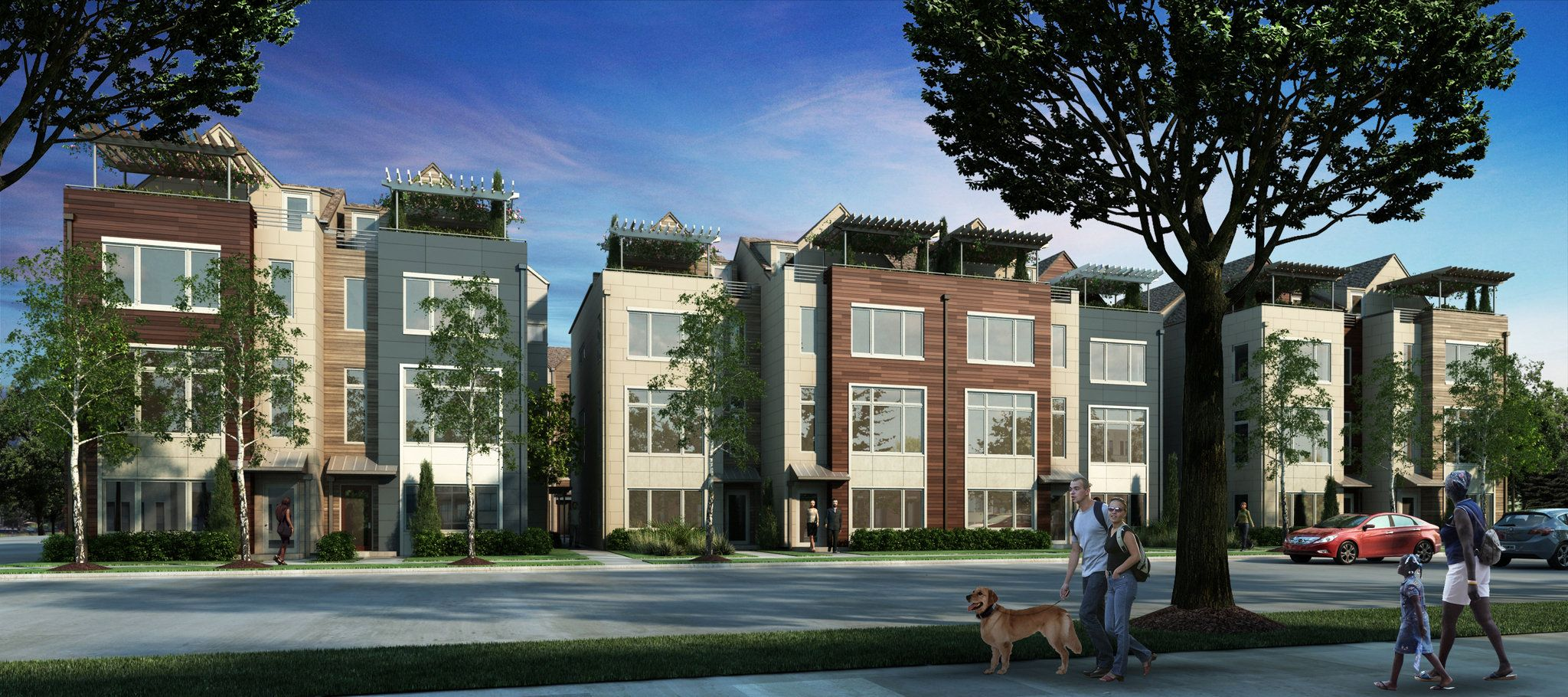 Townhouse project in cleveland 39 s university circle bucks for Townhouse architectural styles
